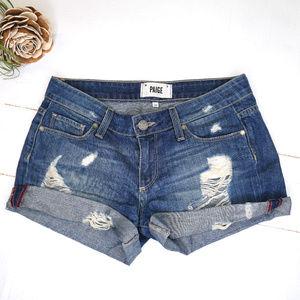 Paige | cuffed distressed jean shorts jimmy riley
